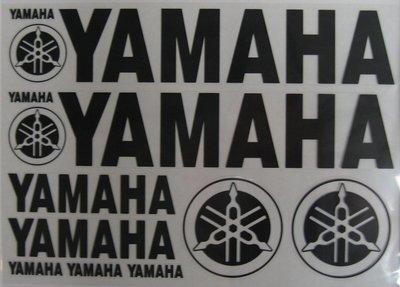 MDI Stickervel Yamaha zwart 34x24cm