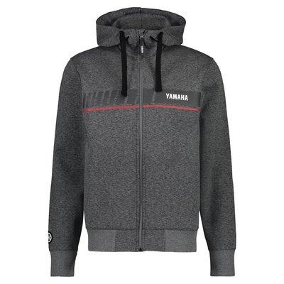 YAMAHA REVS heren hoodie met ritssluiting grijs