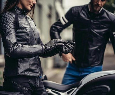 REVIT motorhandschoenen Bastille zwart (dames)
