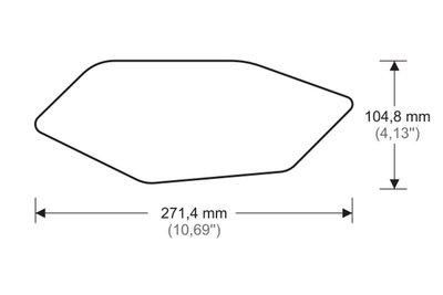 Puig Tank protector/grip stickers zwart voor Yamaha YZF-R6 '08-'16