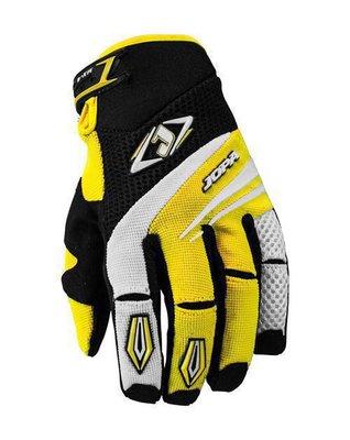 Jopa MX-4 cross handschoenen Zwart/Geel