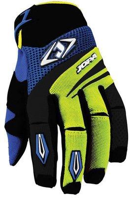 Jopa MX-4 cross handschoenen Geel/Blauw