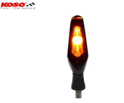 KOSO Mars LED Indicator Black/Smoked Universal ( per stuk )