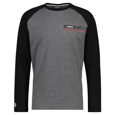 YAMAHA REVS heren Long Sleeve T-shirt zwart en grijs