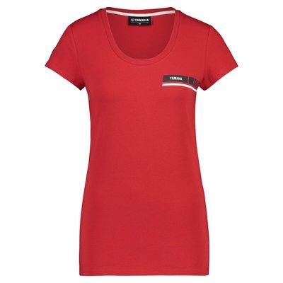 YAMAHA REVS dames t-shirt rood