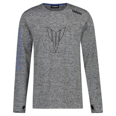 Yamaha MT heren t-shirt met lange mouwen Boise (grijs)