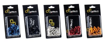 LIGHTECH Engine Screw Kit Aluminum Black (39 Pieces) Yamaha MT-09