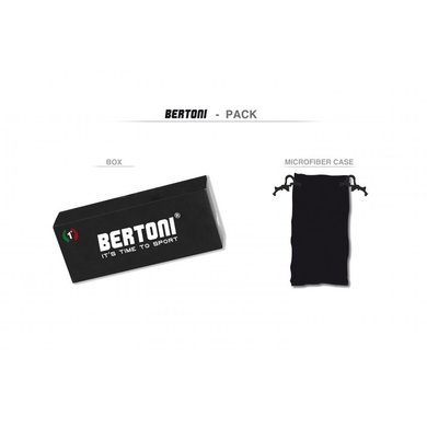 Bertoni zwarte motorbril smoke glas (antifog)