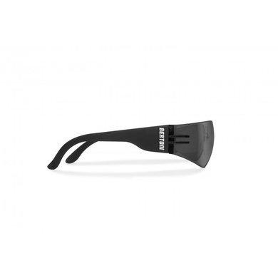 Bertoni zwarte motorbril smoke glas (antifog) AF151C