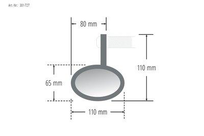 P&W SHIN YO handle bar end mirrorFERRARA (301-727)
