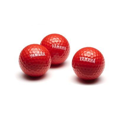Yamaha golfballen 3 stuks - rood