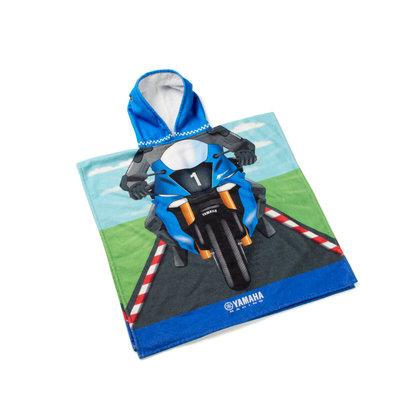 Yamaha kinder Ponchohanddoek voor kinderen geïnspireerd op Yamaha Racing-rijders