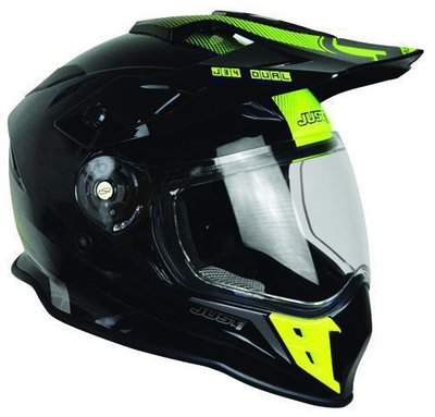 JUST1 Helmet J34 Adventure Shape Neon Yellow
