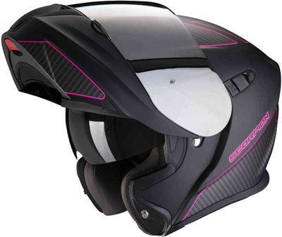 Scorpion Systeemhelm EXO-920 FLUX Matt Black-Pink S