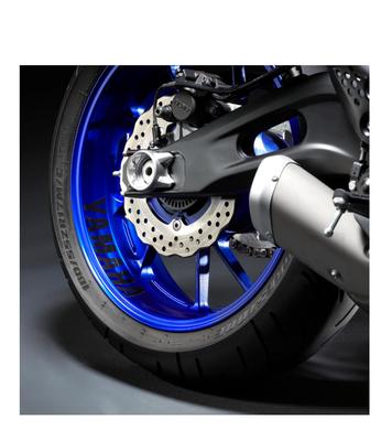 Yamaha MT-09 reflecterende velgsticker zwart