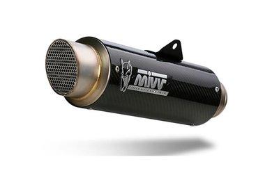 MIVV compleet 2-1 systeem met GP PRO carbon demper Yamaha MT-07 '14-