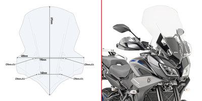 GIVI windscherm 2139DT voor MT-09 Tracer (helder)