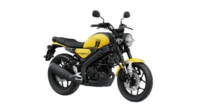 YAMAHA XSR125 impact yellow