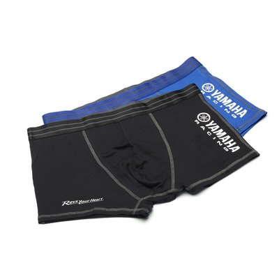 Yamaha heren boxershorts blauw en zwart