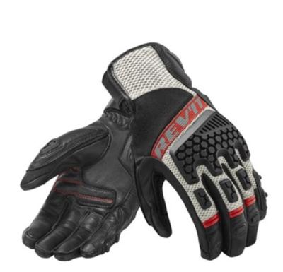 REVIT motorhandschoenen Sand 3 zwart-rood