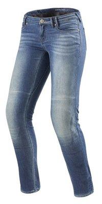 REVIT motorjeans Jeans Westwood SF Zwart Ladies  Lichtblauw Used