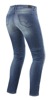 REVIT motorjeans Westwood SF Zwart Ladies  Lichtblauw Used