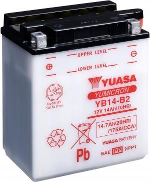 YUASA YB14-B2 Accu