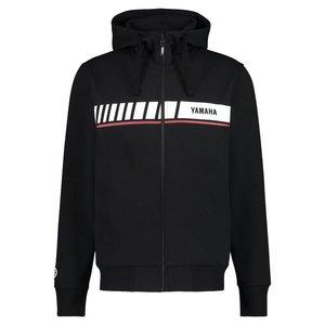 YAMAHA REVS heren hoodie met ritssluiting zwart